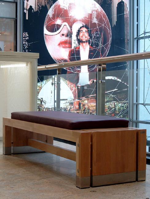 Sitzbank ANDANTE mit Sitzauflage aus Leder